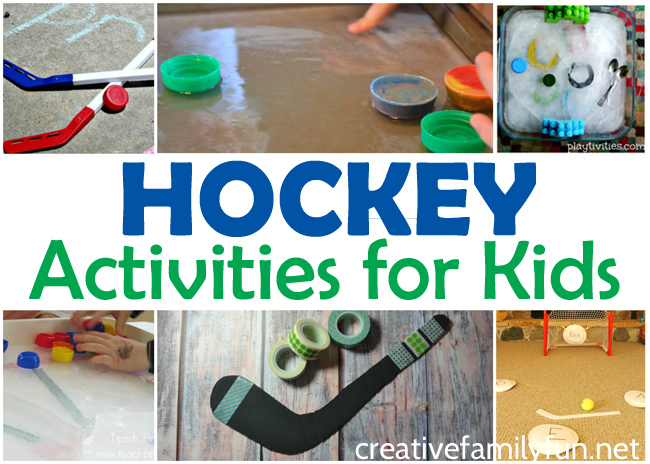 Are your kids crazy about hockey? Here are some great hockey activities that will get them moving, learning, and creating.
