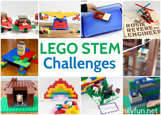 Have fun building with these LEGO STEM Challenges for Kids. These fun engineering activities are fun anytime you're looking for a STEM activity.
