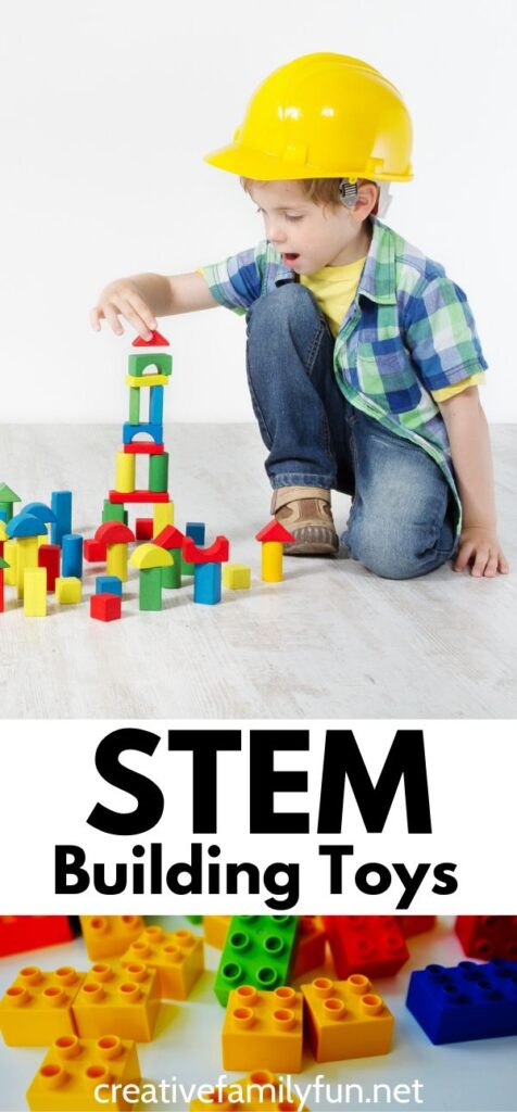 Encourage STEM learning at home with these fun open-ended STEM building toys for kids that will encourage creativity and engineering projects.
