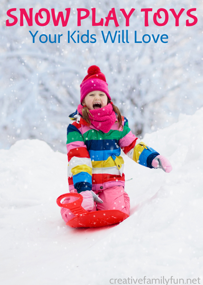 Have fun outside in the snow with all of these fun snow play toys for kids. Build snow forts, have a snowball fight, sled, and have fun!