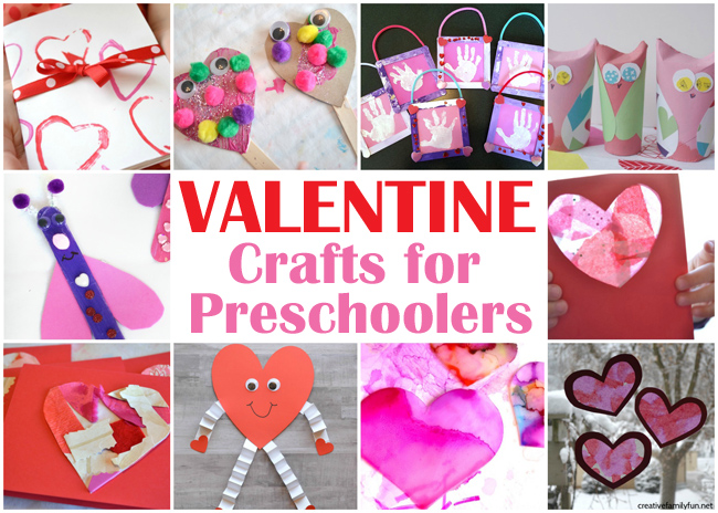 Your kids will love creating for Valentine's Day with this selection of Valentine Crafts for Preschoolers that are so much fun to make.