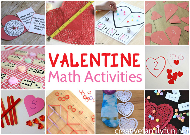 You'll love these fun Valentine math activities that are perfect for school and home. You'll find ideas for grades kindergarten through sixth.