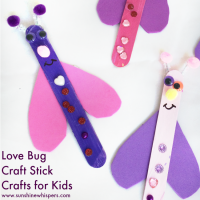 Super Fun Craft Stick Love Bugs!
