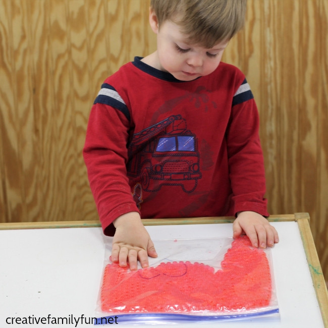 Have some Valentine's Day fun with these simple Valentine sensory bags for toddlers. They're easy to make and fun to play with!