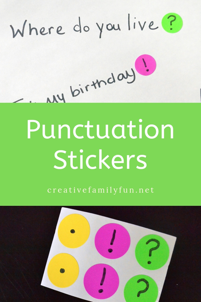 This grammar activity, Punctuation Stickers, is a fun way to practice adding the correct punctuation to the end of a sentence.