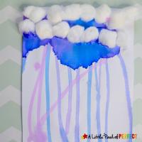 Rain Cloud Gravity Painting for Kids -