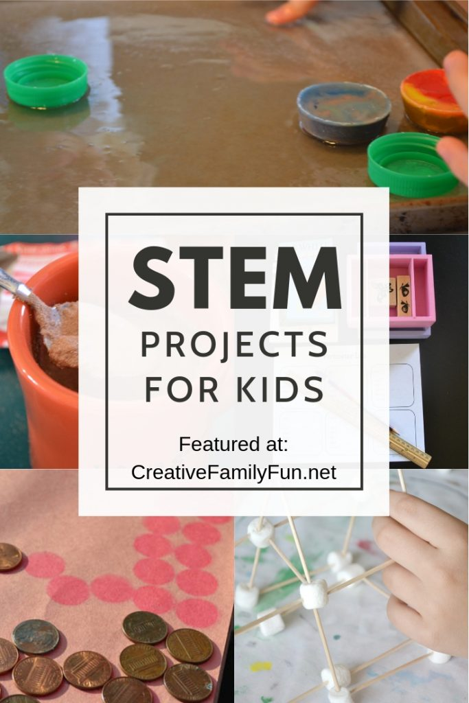 Your kids will have fun learning when they try all of these fun STEM projects for kids that mix science. technology, engineering, math, and even art.
