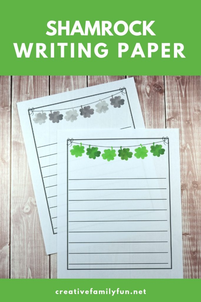Use this fun free printable Shamrock Writing Paper to inspire your kids to write St. Patrick's Day stories and other creative ideas.