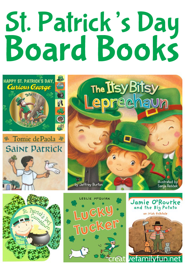 Add to your holiday library with these fun St. Patrick's Day board books for toddlers. They're great choices to curl up and read with your kids.
