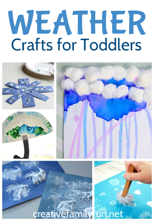 Your little ones will love making all of these great weather crafts for toddlers. You'll find fun ideas for clouds, rain, sunshine, and snow.