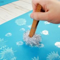 Super Easy Snowball Painting