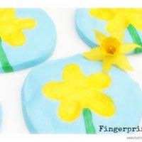Daffodil Thumb Print Salt Dough Keepsake