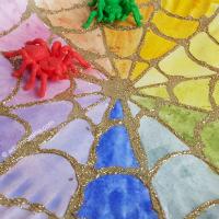 Spider Web Color Wheel Craft