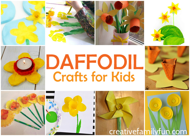 Celebrate spring with these beautiful daffodil crafts for kids. These spring flower crafts are so simple and so much fun to create.