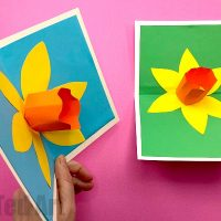 3d Pop Up Daffodil Card - Red Ted Art's Blog