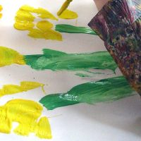 Spring Art Project for Toddlers and Preschoolers