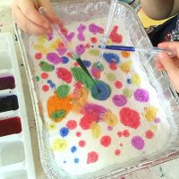 Exploring Colors with Baking Soda and Vinegar