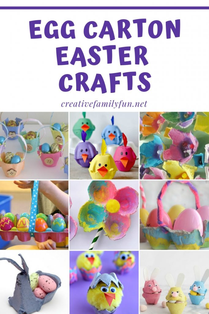Your kids will love making these cute and colorful Easter crafts with egg cartons this year!