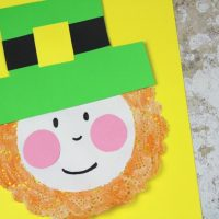 Easy Doily Leprechaun Craft for Kids