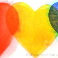 Color Mixing Tissue Paper Hearts - Red Ted Art's Blog