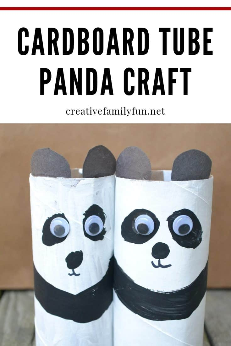 Cardboard Tube Panda Craft for Kids