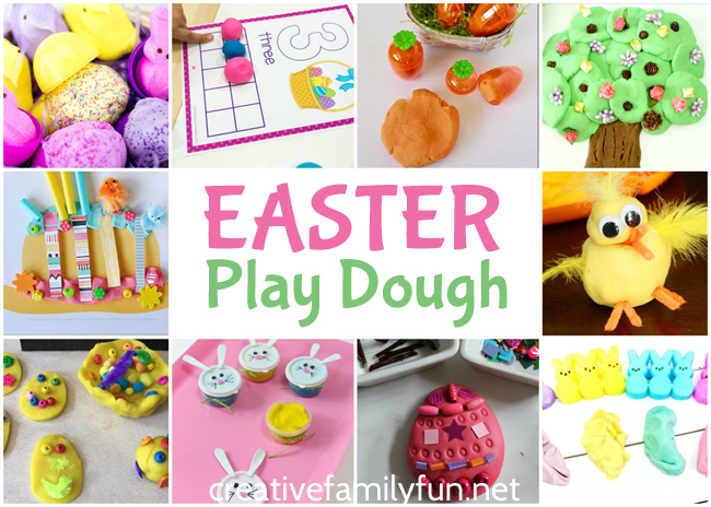 Your kids will have fun with all of these awesome Easter play dough ideas inspired by Easter eggs, chicks, bunnies, and even Easter candy.