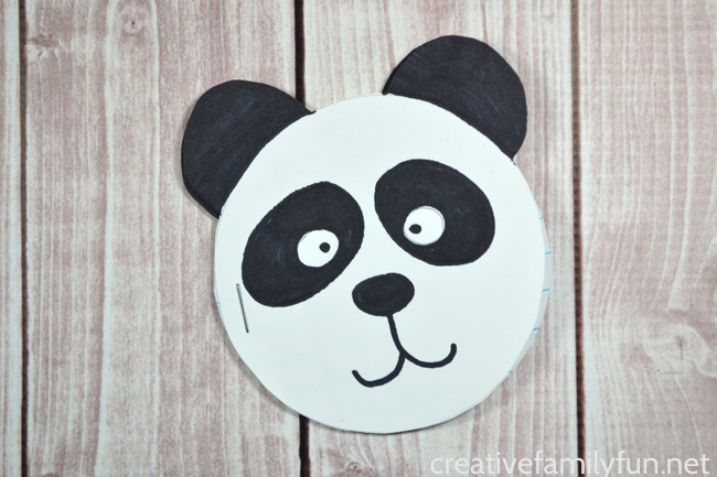 Panda Mini Notebook Craft for Kids
