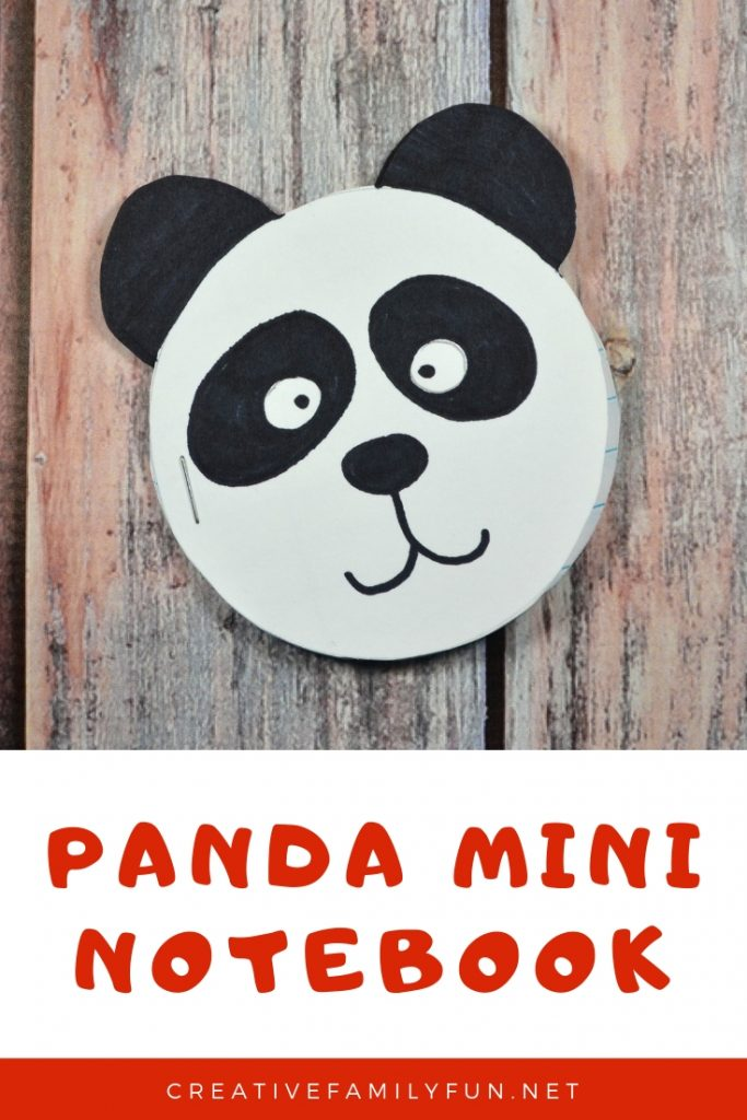 Record all your thoughts and ideas in this fun and simple Panda Mini Notebook craft that is perfect for kids and tweens to make.