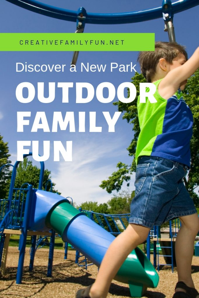 Have some outdoor family fun and adventure by discovering a new park together. Get outside with this fun and free family activity!