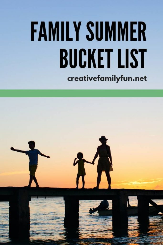Plan your family summer bucket list with this fun printable. Use your own ideas or use some of our suggestions for summer fun!