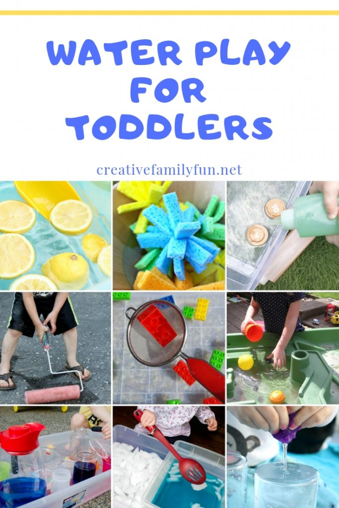 Splash and have fun with one of these water play ideas for toddlers. You can play indoors and outdoors with these fun sensory play ideas.