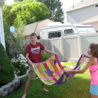 Water Balloon Towel Toss Game