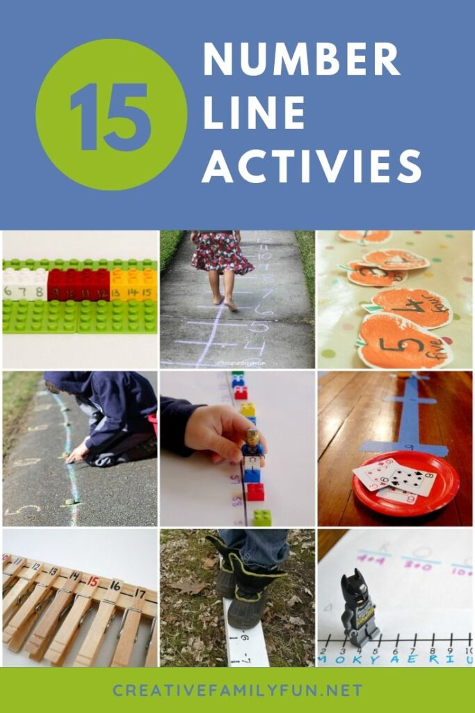 Play and learn with these fun number line activities for kids. You'll move, use your fine motor skills, play math games and have so much fun!