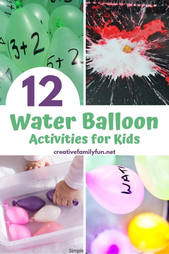 Go outside and have some fun fun with these awesome water balloon activities for kids!