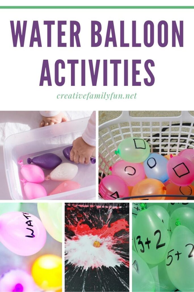 Go outside and have some fun fun with these awesome water balloon activities for kids! Find science ideas, learning ideas, and tons of fun.