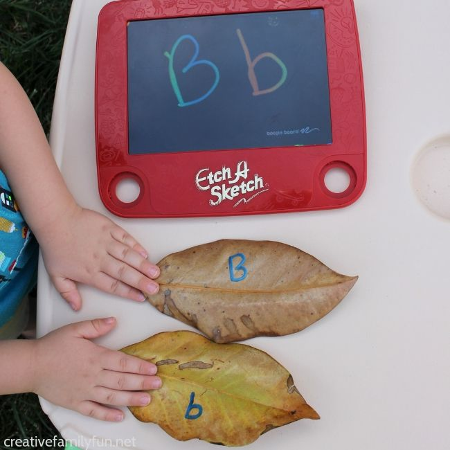 Leaf Hunt Alphabet Game for Toddlers and Preschoolers