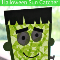 Frankenstein Suncatcher Craft for Kids