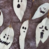 Spooky Leaf Ghosts for Halloween