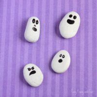 Painted Rock Ghosts Craft