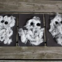 Cotton Ball Ghost Craft for Toddlers