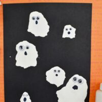 Straw Blown Halloween Ghost Craft