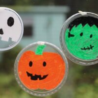 Recycled Halloween Suncatchers