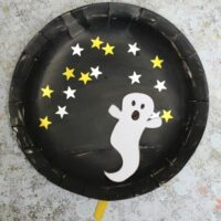 Movable Paper Plate Ghost Craft