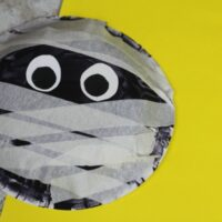 Paper Bowl Mummy Craft