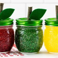 Apple Glitter Jars