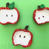 Apple Pinch Pots for Kids