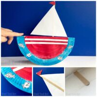 Rocking Paper Plate Boat - Red Ted Art
