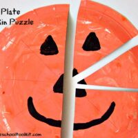 How to Make a Pumpkin Puzzle with a Paper Plate