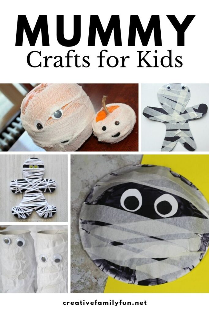 Mummies don't have to be scary, especially when you're making one of these fun mummy crafts for Halloween with your kids.