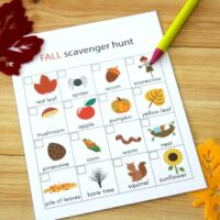 Fall Camping Scavenger Hunt